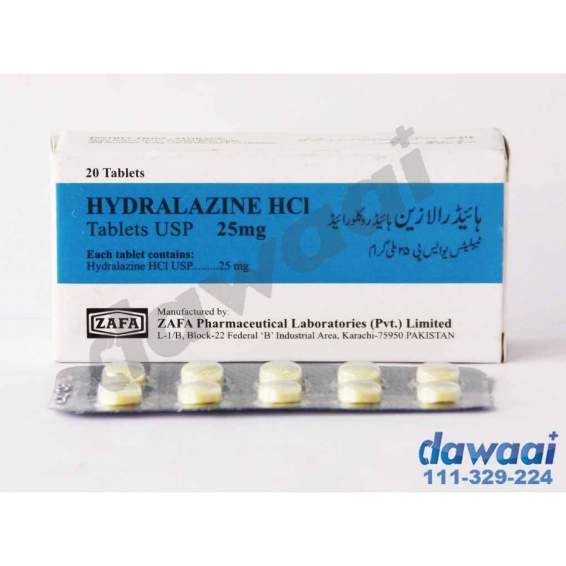 Hydralazine 25mg | Uses | Side Effects | Price | Online In ...