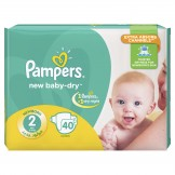 Pampers Baby-Dry Size 2 (3-8 KG) 40 counts